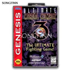 Image 1 - 16 бит MD карта памяти с коробкой для Sega Mega Drive для Genesis Megadrive   Ultimate Mortal Kombat 3