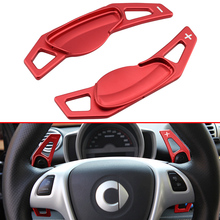 цена на For Smart Fortwo W451 2007-2014 Aluminium Steering Wheel Gear Shift Paddle Extension Accessories Red