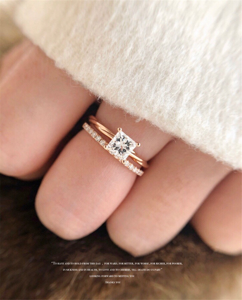18K Solid Yellow Real Gold Jewelry(AU750)Women Princess Alien A Carat Moissanite D...