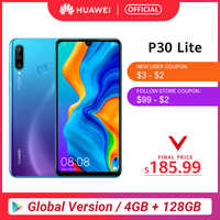 Globale Versione Huawei P30 Lite 4GB 128GB Smartphone da 6.15 pollici Kirin 710 Octa Core Del Telefono Mobile EMUI Android 9.0 Cellulare