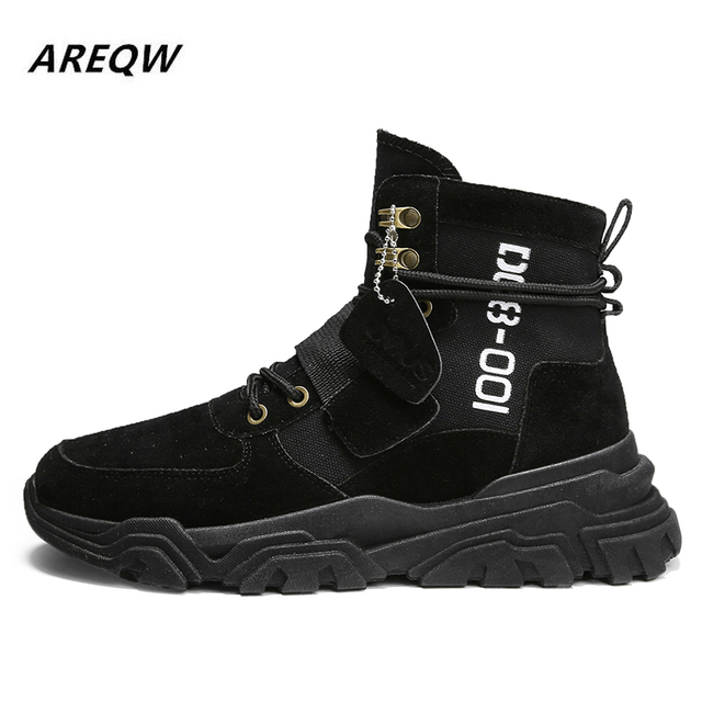 Sports Shoes British Wind with Flat Bottom Skid Autumn and Winter Martin Boots 6
