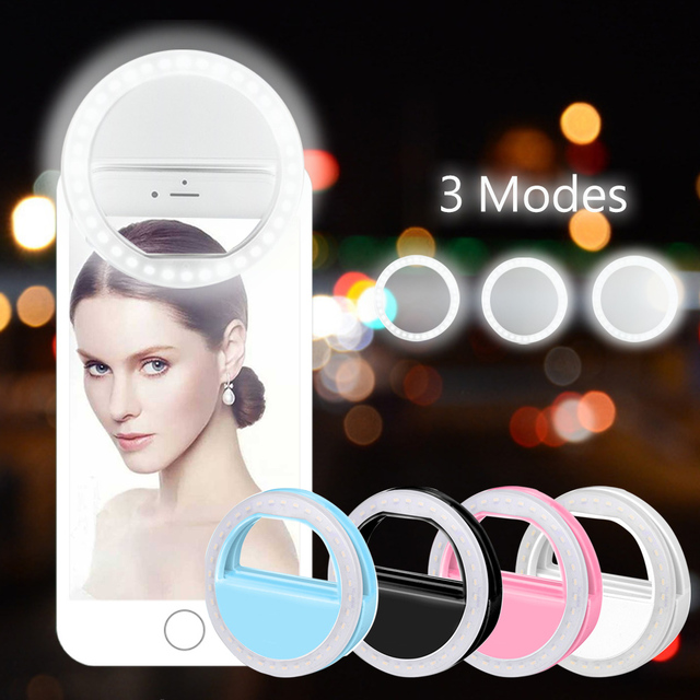 Rovtop 36 LED Lamps Selfie Light For Iphone Supplementary Photographic Lighting Selfie Ring Enhancing For All Smartphone