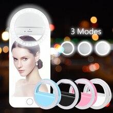 Rovtop 36 LED lambalar Selfie ışık Iphone ek fotografik aydınlatma Selfie yüzük geliştirilmesi tüm akıllı telefon için