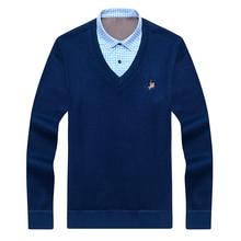 Aoliwen Men winter warm shirts fleece lining flannel cotton pullover solid V-neck turn-down-collar Keep soft men shirt fit