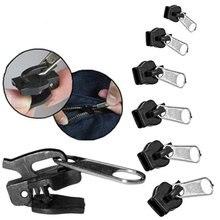 6Pcs 3 Tamanhos Fix Zipper Kit de Reparação Substituição Zip Instantânea Universal Slider Teeth Resgate Novo Design Zíperes De Costura Roupas