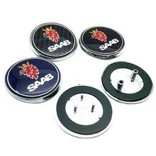 1/ 2 шт. 68 мм для SAAB Передняя головка капота эмблема заднего бампера багажника значок багажника наклейка с логотипом автостайлинг аксессуары