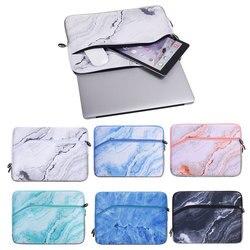 Popularne marmurowe drukowane 13 Cal na laptopa dla Macbook Pro Macbook Air torba na laptopa  odporna na wstrząsy  ochronna torba na laptopa