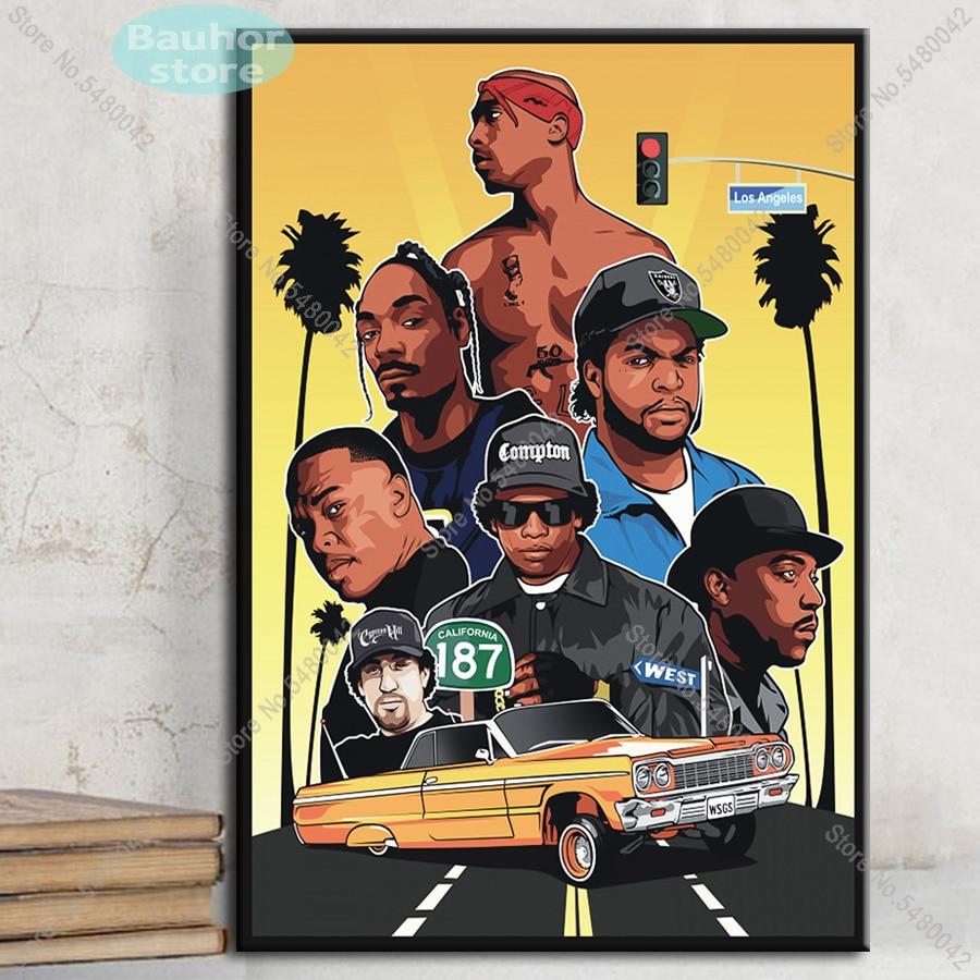 Y605 The Notorious 2PAC Tupac N.W.A Smoking Rapper Art Silk Poster 27x40 24x36