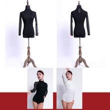Tops Dance-Dress Ballroom Latin Tango Belly Chacha Samba Dancing Performamnce Women L1093