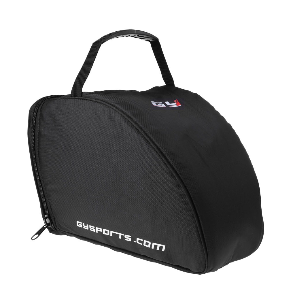 Portable Ice Hockey Helmet Bag Padded Protection Goalie Mask Equipment Storage Bag Black