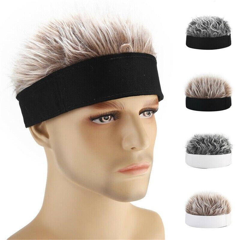 Helisopus Winter Hats Men Women Wig Beanie Hat Retro Street Spoof Sailor Melon Skin Hooligan Landlord Hat Hip Hop Cap Men's Gift