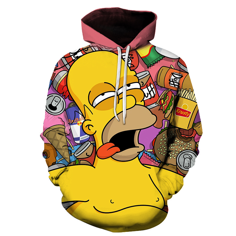 2021 new classic funny anime happy happy family printing fashion casual style hoodie 3D printing men's women's children's sweate