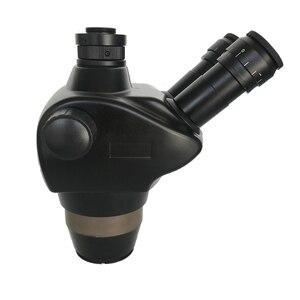 Image 1 - 8X 50X Trinocular Simul Focalสเตอริโอซูมกล้องจุลทรรศน์WF10X/22 สายตายาว 0.5X 2.0Xเลนส์วัตถุประสงค์เครื่องประดับPCBซ่อมเครื่องมือ
