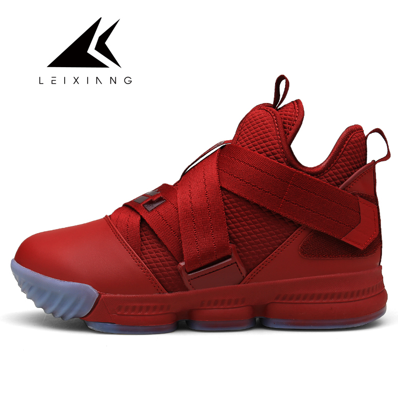 2019 New Brand Men Basketball Shoes Damping Red/Black Sport Sneakers High Top Trainers Leather Outdoor Boots Basket Ball Sneaker