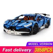MOC 20086 seria technic niebieska prędkość Sport samochód wyścigowy zestaw modeli do składania klocki do budowy dzieci zabawki dla dzieci DIY cegły