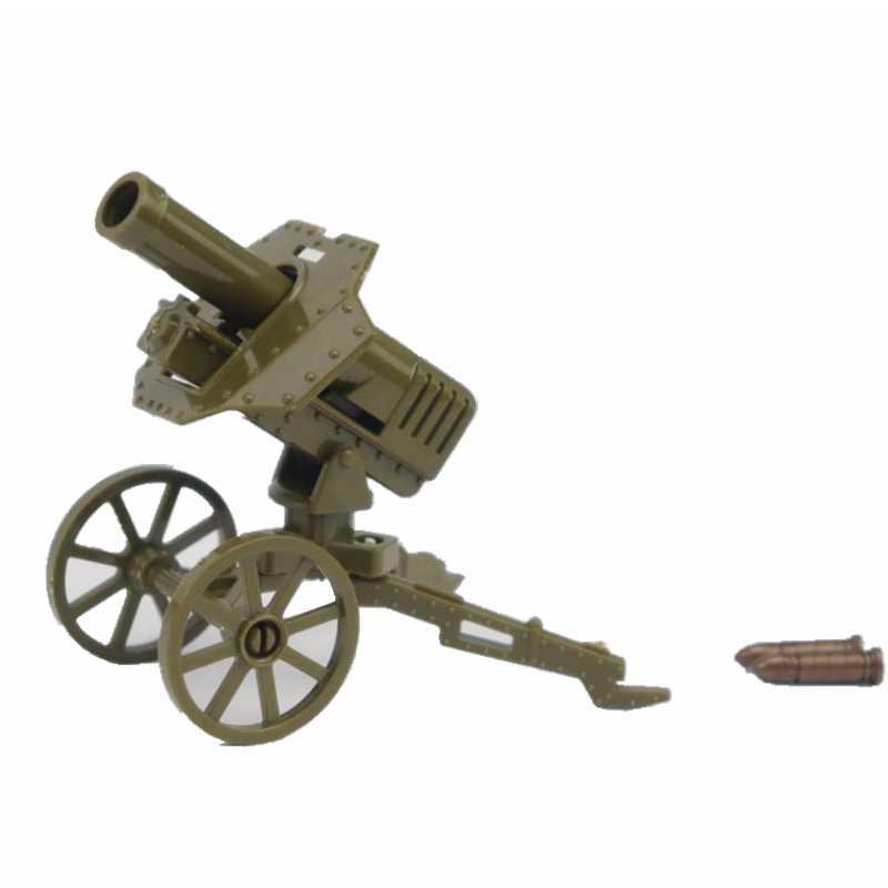 WW2 Legoing Militarys ถังบล็อก CANNON ปูน ROCKET launcher Gatling Gun บล็อกประกอบปืน Legoings ถังของเล่นเด็ก