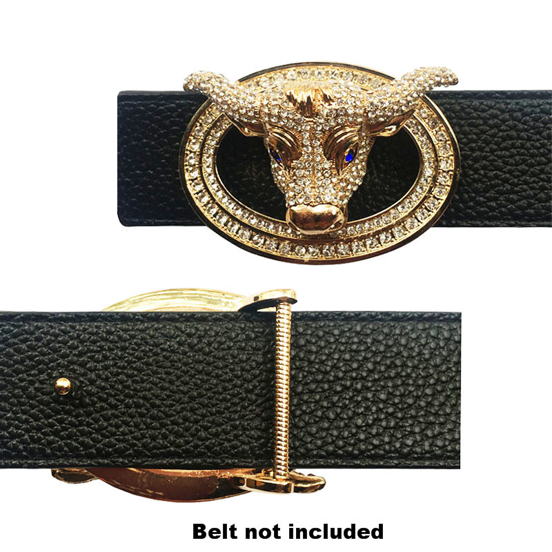 Luxury Animal Icon Buckle For Belt Vintage Metal Accessories For Men's Belts