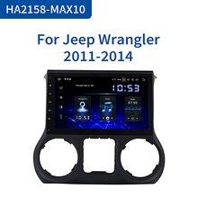 Écran IPS avec HDMI, Bluetooth, vidéo 10.2 P, ROM 64 go MAX10, Android 10.0, DSP, 2011 pouces, 1din, pour voiture Jeep Wrangler (2016 1080)