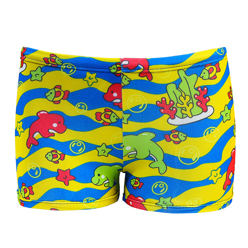 2019 New Style Children Baby Swimming Trunks Men And Women Children Boxer Swimming Trunks Printed Cute Cartoon Swimming Trunks M