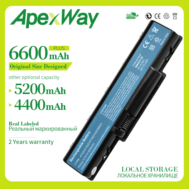 Apexway Laptop Battery For Acer 4732 For Packard Bell EasyNote TJ61 TJ62 TJ63 TJ64 TJ65 TJ66 TJ72 TJ67 TJ73 TJ74 TJ75 TJ76 TJ77