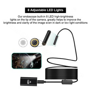 Image 3 - FUERS WIFI Endoscope Camera HD 720P 8mm Lens Wireless Inspection Soft Cable Waterproof Borescope Android IOS Phone Endoscope