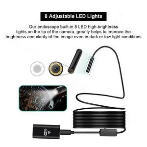 Image 3 - FUERS WIFI Endoscope caméra HD 720P 8mm lentille sans fil Inspection câble souple étanche Endoscope Android IOS téléphone Endoscope
