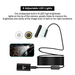 Image 3 - FUERS WIFI endoskop kamera HD 1200P/720P 8mm Lens kablosuz su geçirmez Mini muayene kamera Android IOS telefon WIFI endoskop