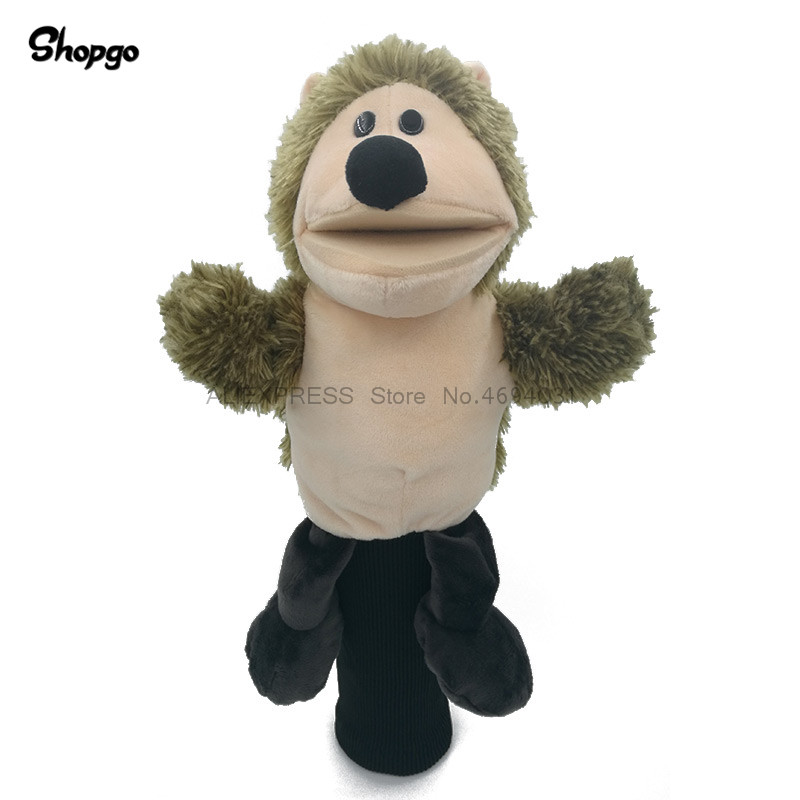 Plush Hedgehog Golf Driver Headcover Cartoon Animal NO.1 Wood Golf Cover Club Accessory Mascot Novelty Cute Gift