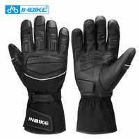 INBIKE ветрозащитные мотоциклетные перчатки зимние термальные велосипедные перчатки для мотокросса мужские водонепроницаемые перчатки с се...