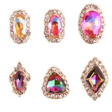 500pcs Nail Art Rhinestone Non-Hotfix Crystal Multi-color Multi-size Glass Rhinestone Sparkle Gems Nail Art Accessory Rhinestone
