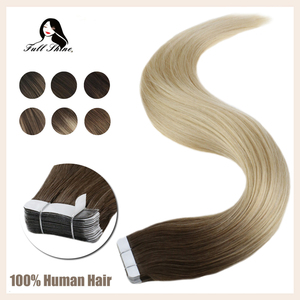 Image 1 - Full Shine Tape in Hair Extensions Balayage Color 100% Human Tape On Hair Extensions 50g 20 Pcs machine made remy