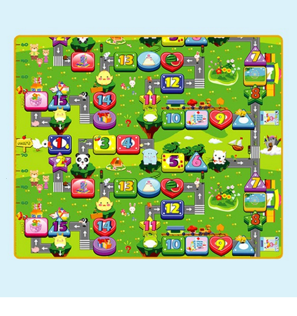 H724860e5b210430088c2db50f3899356m Baby Play Mat 0.5cm Thick Foldable Crawling Mat Double Surface Baby Carpet Rug Cartoon Developing Mat for Children Game Playmat