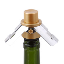 Inoxydable Stainless Steel Bottle Stopper Vacuum Pump Sealed Red Wine Champagne Bar Preserve Kitchen Accessories new high quality stainless steel wine stopper portable durable stainless steel wine stopper bar accessories support wholesale