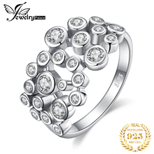 JewelryPalace ענק מעוקב Zirconia טבעות 925 טבעות כסף סטרלינג לנשים Stackable טבעת כסף 925 תכשיטי תכשיטים