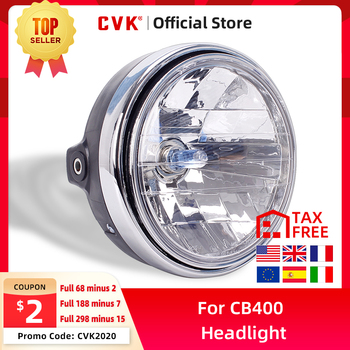 цена на CVK Motorcycle Headlight Headlamp Head Lamp For HONDA Honda Cb400 Cb500 Cb1300 Hornet 250 600 900 Vtec Vtr250 Running Light