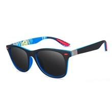 Brand Design Men Polarized Sunglasses Classic Retro Square D