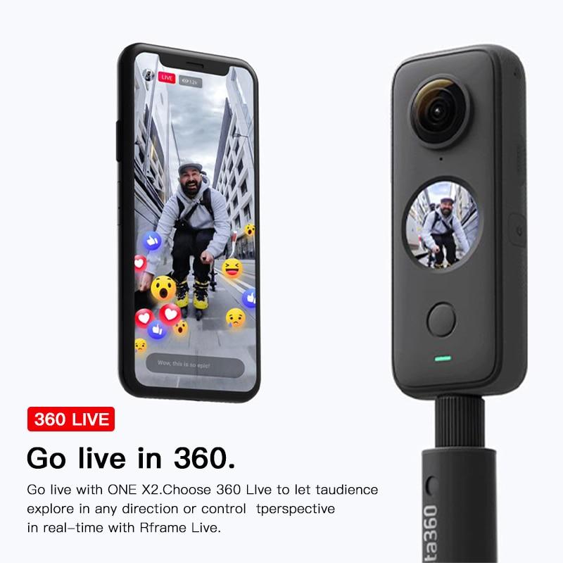 Insta360 One X2 360 Action Camera 5.7K VR Video 10M Waterproof Insta 360 One X2 Pocket Panorama Underwater Helmet Pro  Sport Cam-1