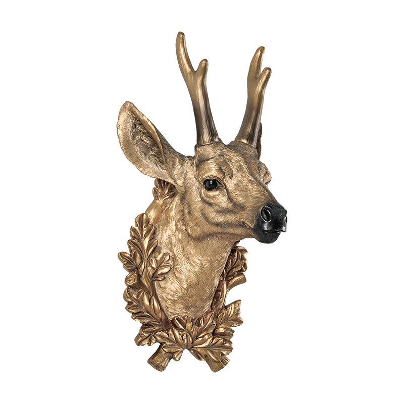 Домашний декор статуи аксессуары скандинавский стиль голова оленя скульптура гостиная настенный Декор статуя ремесло - 5