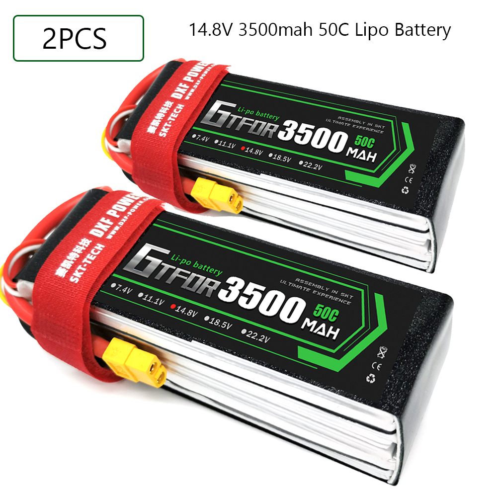 GTFDR <font><b>3500mAh</b></font> 14.8V 50C-100C <font><b>Lipo</b></font> battery <font><b>4S</b></font> XT60/DEANS/XT90/EC5 For AKKU Drone FPV Truck four axi Helicopter RC Car Airplane image