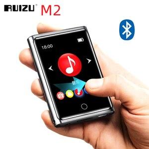 Image 1 - RUIZU M2 8 GB/40 GB w pełni dotykowy ekran odtwarzacze Bluetooth przenośna muzyka Audio z radiem FM nagrywanie E book odtwarzacz wideo MP4