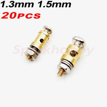 20PCS 1.3mm 2.1mm copper Pushrod Linkage Stopper Servo Connectors Adjustable Easy Diameter For Rc Helicopter airplane ACCS parts image