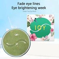 60 Pcs Grün Tee/Rose Auge Maske Hyaluronsäure Reparatur Eye Patches Natürliche Feuchtigkeits Entfernen Augenringe Augen Pflege TSLM1