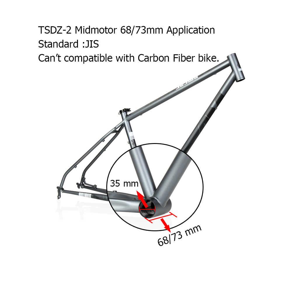 Tongsheng TSDZ 2 36V 48V 250W 350W 500W แรงบิดเซนเซอร์ XH18 DIY ไฟฟ้าจักรยานกลางไดรฟ์มอเตอร์ชุด