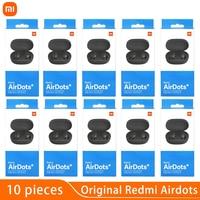 10 unids/lote Original Xiaomi Airdots S TWS auricular Bluetooth inalámbrico auriculares Redmi Airdots 2 s estéreo de auriculares de ruido auriculares