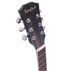 Image 3 - 38/41 cal folkowa gitara akustyczna dla początkujących 6 struny Basswood z zestawów czarny białe drewno brązowy gitara AGT16