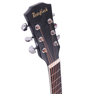 Image 3 - 38/41 inch Acoustic Guitar Folk Guitar for Beginners 6 Strings Basswood with Sets Black White Wood Brown Guitar AGT16