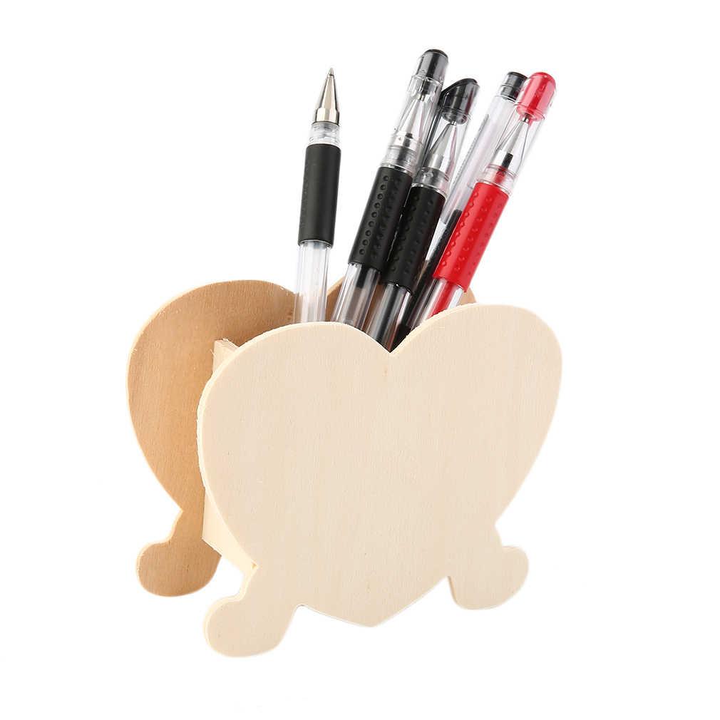 ใหม่ร้อน! เด็ก DIY Baipi Handmade ไม้ปากกา Piggy Bank แม่พิมพ์ดิน Multi-รูปร่างผู้ถือปากกาไม้ DIY การเรียนรู้การศึกษาของเล่น