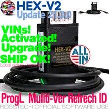 Gen-interfaz USB de HEX-V2 rediseñada para coche, escáner Vagcom COM 21,3 20,12 para VW-AUDI K,K + L,Dual-K,CAN,UDS, reinicio de código largo L
