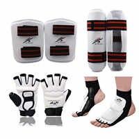 Erwachsene Kinder Karate Handschuhe Taekwondo Uniform Bein Wärmer Hand Protector Professionelle Shin Wache Männer Kampf Boxen MMA Ausrüstung