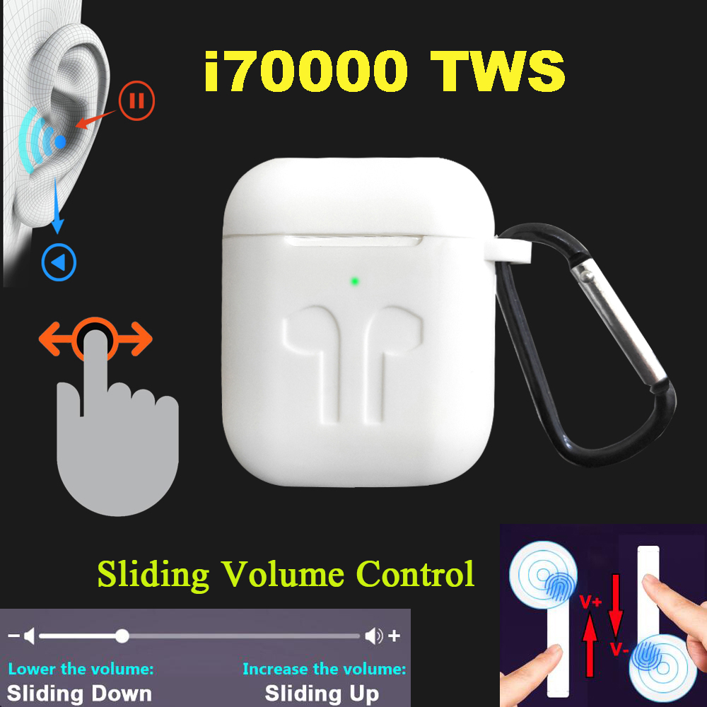 i70000 <font><b>tws</b></font> Bluetooth Earbuds Wireless Earphone Pk i12 i60 i200 i500 i1000 i9000 i80 i40 LK TE9 i13 <font><b>i14</b></font> i15 i16 <font><b>tws</b></font> image